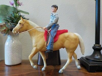 Breyer Kelly Reno & Little Man Gift Set Palomino Stock Horse Stallion & Rider