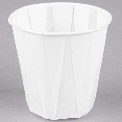Genpak Harvest W500F 5 oz. White Paper Souffle / Drinking Cup - 100/Pack