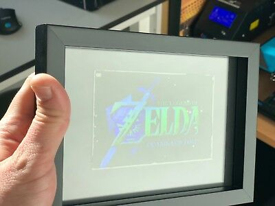 Legend of Zelda Ocarina of Time rare collectible holographic painting