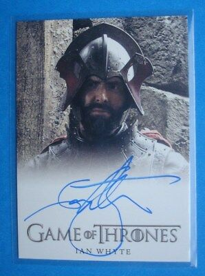 2014 **GAME Of THRONES** Season 3 Auto/AutoGraph Card *Ian WHYTE Gregor CLEGANE