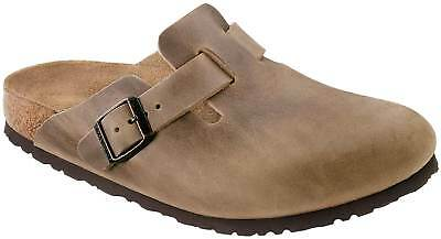 BIRKENSTOCK BOSTON BRAUN Tabacco Brown Fettleder Clogs