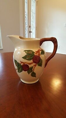 Vintage 1950s Era Franciscan Ware Apple Pattern Water or Iced Tea Pitcher
