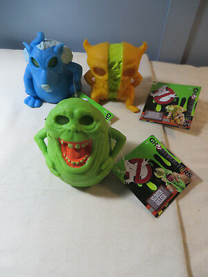 "Mattel Ghostbusters Ecto Ghosts Slimer Splitting Ghost Rat Lot 4"" Figure Squishy"