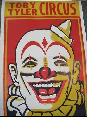 Vintage Toby Tyler Circus Clown Poster