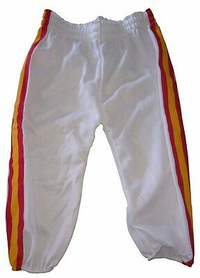 Franklin Striped Baseball Trousers Pants (White) - Youth S (7-8 Years)