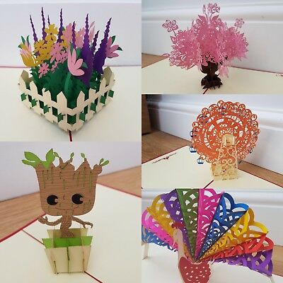 Mother's Day Birthday Card 3D Pop Up Handmade Greeting Cards Anniversary UK