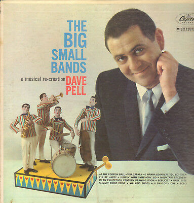 DAVE PELL-LP- THE BIG SMALL BANDS- ART PEPPER- CAPITOL-MONO-USA- 1960s