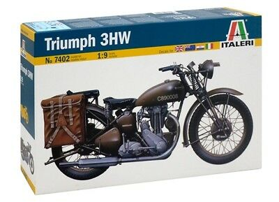 7402 Triumph 3HW MOTORCYCLE ITALERI 1:9 plastic model kit