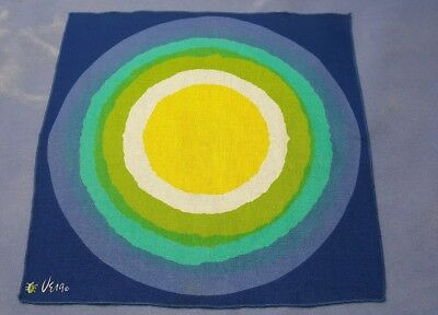 VTG Vera Neumann Dinner Napkins Set of 7 Starburst Rainbow Blue, Green, Aqua