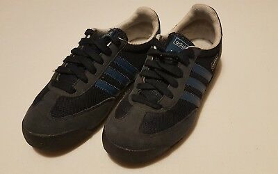 Adidas Dragon trainers in blue gold & white size 4.5 textile & canvas. Rare
