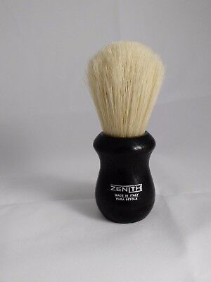 Short and Scrubby Boar Shave Brush. 24mm X 48mm. Made in Italy by Zenith. B17