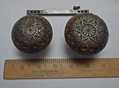 2 Bonze Vintage Antique Eastlake Victorian Door Knobs Sargent