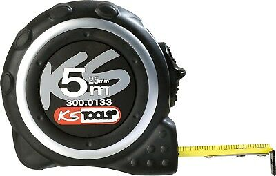 KS Tools 300.0133 Tape measure with locking device and belt clip, black grey, 5