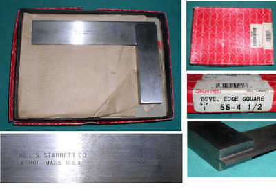 "STARRETT 55-4 1/2"" BEVEL EDGE SQUARE  precision machinist"
