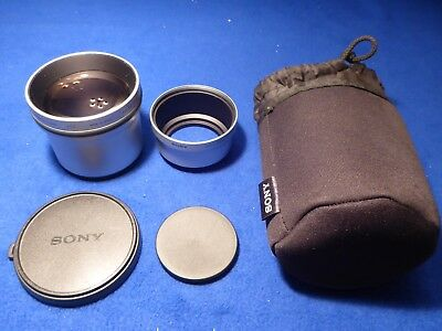 Sony Vcl-Deh17V Tele Conversion Lens In Silver Finish With Carry Bag