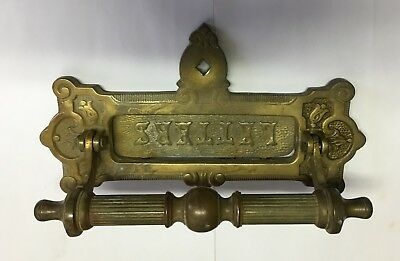 VTG solid Brass letter slot door knocker needs a little work