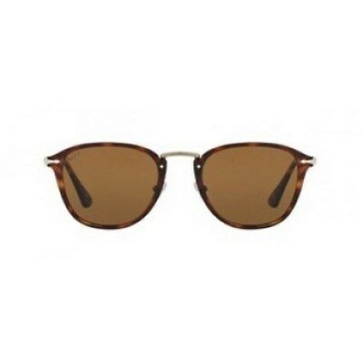 953fcba80905 Persol Men's Calligrapher PO3165S-24/31-52 Brown Clubmaster Sunglasses
