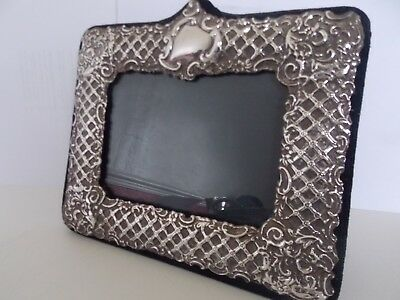 superb hallmarked silver embossed 6x4 photograph frame