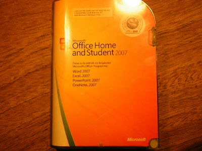 original Microsoft Software  Office Home and Student 2007