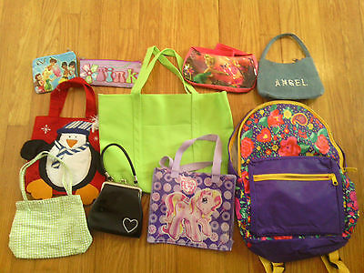 Mixed Lot Girls Purses , Totes, Backpack, etc....