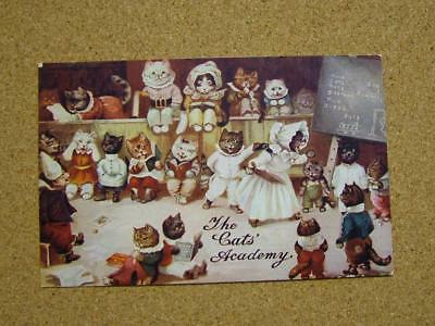 "1900s Louis Wain Cats Academy Series Postcard ""In Class""."