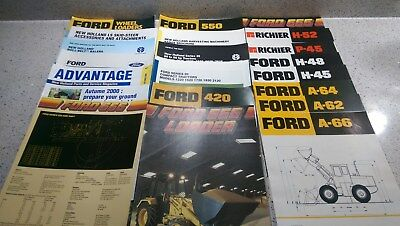21 x brochures JOB LOT Ford New Holland Richier H52 H48 H45 tractor baler 1220