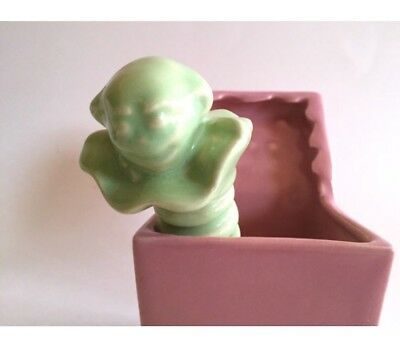 Vintage Jack In The Box ceramic succulent nursery baby shower Planter unisex pot