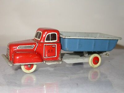 Georg Fischer German Tin Litho Pick Up Truck Dump Bed Penny Toy