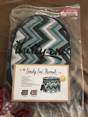 Discontinued Thirty One Family Fun Thermal In Dotty Chevron Thermal