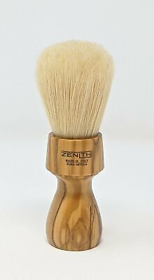Olive Wood Long Handle Big Boar Brush. 27.5x62mm Knot. Crafted in Sicily B25