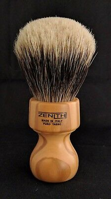 Zenith Manchurian Olive Wood Shave Brush. 27.5 x 51 mm. Made in Italy. M5