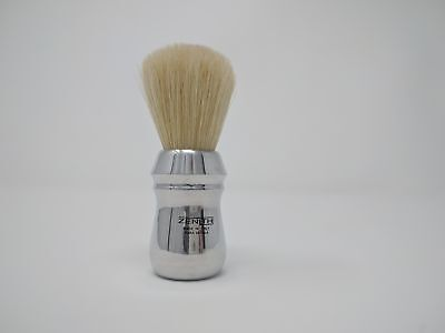 Zenith Pro Aluminum Handle XL Boar Shave Brush. 28x57mm knot. Made in Italy.B8