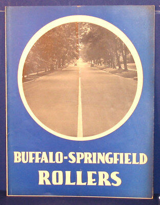 Vintage Buffalo Springfield Roller Construction Equipment Sales Brochure Catalog