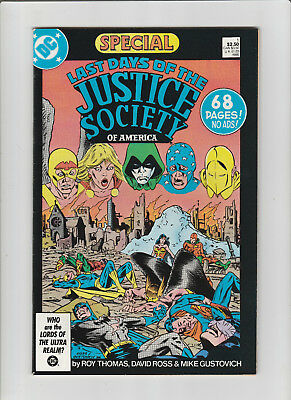 LAST DAYS of the JUSTICE SOCIETY #1 DC Comics 1986 No ads 68 pages