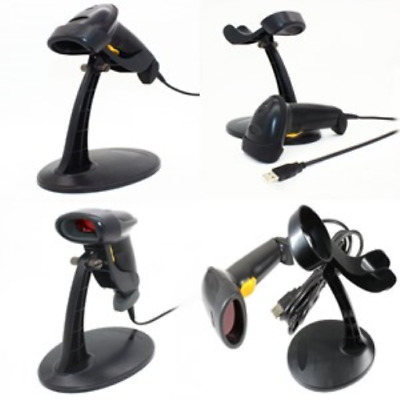 Barcode Scanner With Stand Usb Automatic Desktop Handsfree Reader Table Top Blac