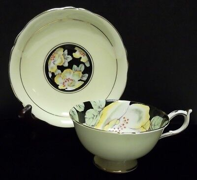 PARAGON HM The Queen Mary Fine Bone China England Yellow Cup & Saucer