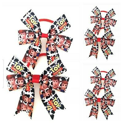 Handmade Girls Toy Story 4  Hair Bows Bobbles sold in Pairs