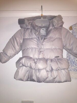 Infant Girls Mayoral Coat Age 18 Months