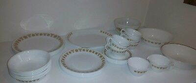 Huge Lot Of 41 Assorted Pc Corelle Butterfly Dishes Plates, Platter Bowls