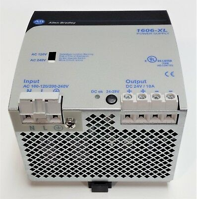 Allen Bradley 1606-XL240E Switched Power Supply, 120/240VAC to 24VDC 10A 240W