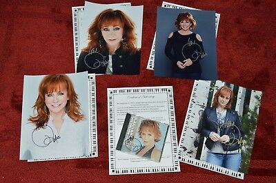 Reba McEntire (4) AUTOGRAPHED PHOTO'S AND SIGNED CD & COA/HOLOGRAM NUMBERED