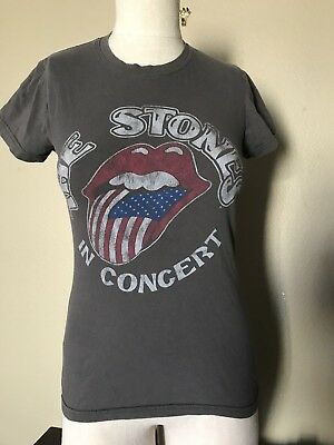The Rolling Stones 50 Years In Concert Ladies T-Shirt Size Medium