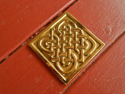 Cast Brass Celtic Knot Coaster Smithsonain Institution Virginia Metalcrafters