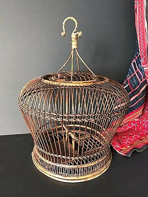 Old Japanese Rattan Bird Cage …beautiful accent piece