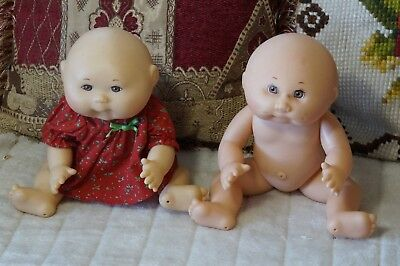 Two 2 Mattel First Edition 1982 1995?Cabbage Patch Kids hard body bath doll 30cm