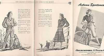 Vintage Abercrombie & Fitch Advertising~Outfitters Catalog Brochure Pamphlet #22