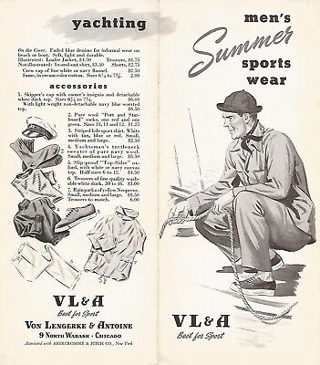 Abercrombie & Fitch / Vl&a~ Outfitters Vintage Catalog Pamphlet Brochure #9