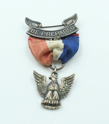 Vintage Boy Scouts Of America Bsa Eagle Scout Pin Award Sterling Nr #644-11