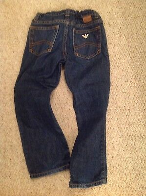 Childrens Armani Junior Jeans boys age 4 Mid Blue Colour