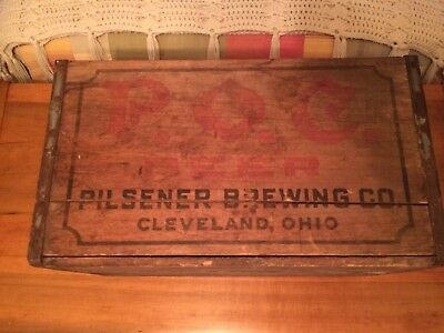 P.O.C. Pilsener Brewing Co. (Pride of Cleveland) Cleveland Ohio Wood Beer Crate